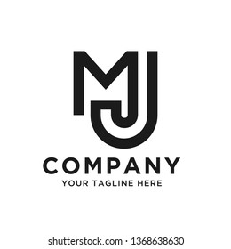 MJ letter mark Logo template, vector file eps 10, text and color is easy to edit