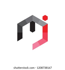 mj logo letter design