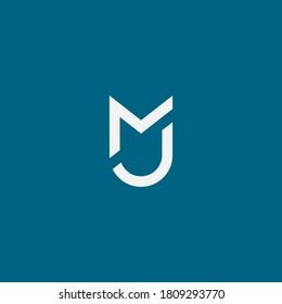 MJ or MU logo. Vector illustration.