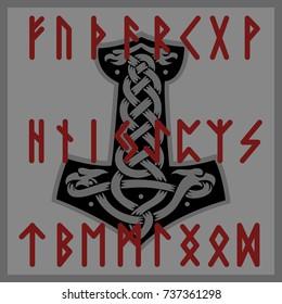 Mjolnir Thor Futhark