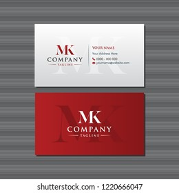 MK Business Card Design with Logo