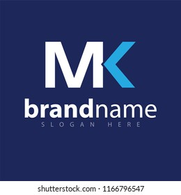 MK Initial letter logo vector