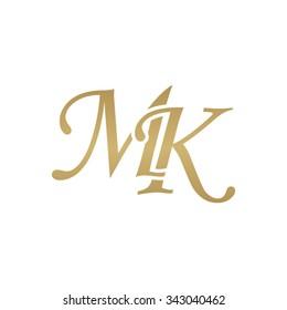 MK initial monogram logo