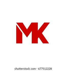 mk letter logo