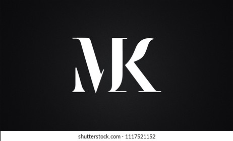 MK Letter Logo Design Template Vector