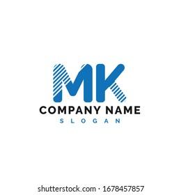 MK Letter Logo Design. MK letter logo Vector Illustration - Vector