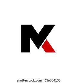 mk letter vector logo