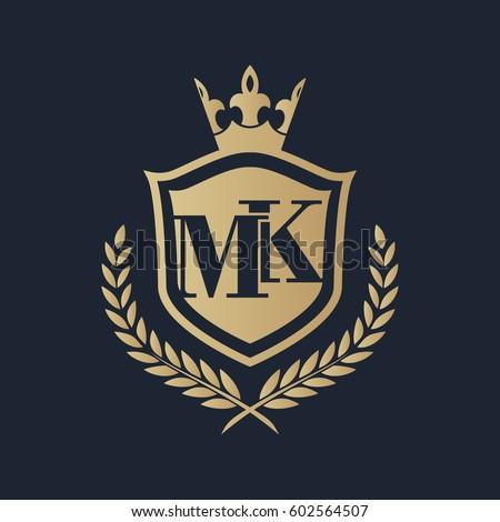 MK Logo Stock Vector (Royalty ...