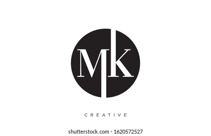 MK logo design luxury premium icon