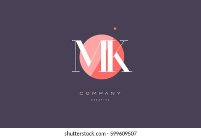 mk m k  retro vintage simple rhombus three 3 letter combination black white alphabet company logo line design vector icon template