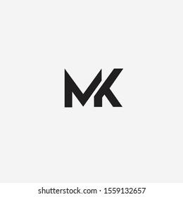 MK uppercase initial logo vector