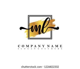 ML Initial handwriting logo concept