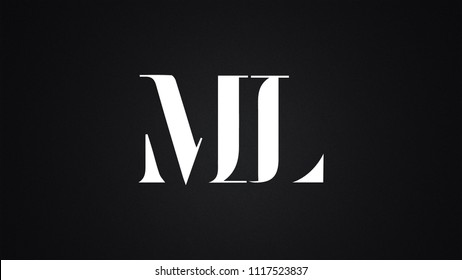 ML Letter Logo Design Template Vector