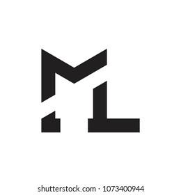 ML letter logo design vector