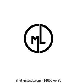 ml letter vector logo. m l vector logo