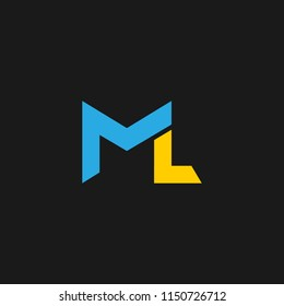 ML Logo design in vector format with letter M and L.