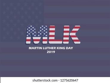 MLK Day Flag Background. vector illustration eps. 10