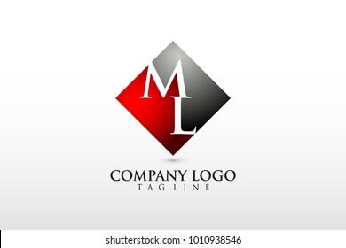 ml/lm company logo vector