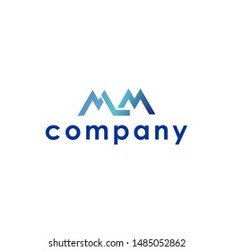 mlm letter  logo vector.creative initial design