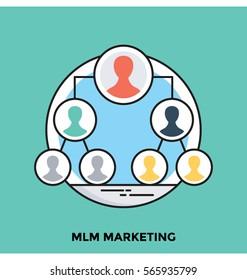MLM Marketing Vector Icon