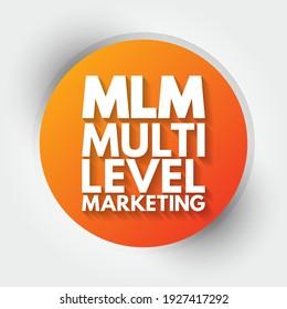 MLM - Multi Level Marketing mind map, business concept background