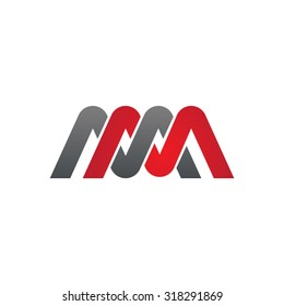 MM company group linked letter logo