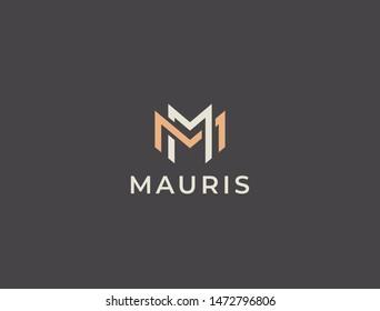 MM. Double M logo. Unique modern creative elegant letter M logo template. Vector icon.