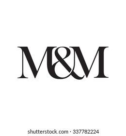 M&M Initial logo. Ampersand monogram logo