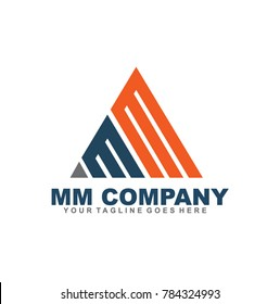 MM letter logo design