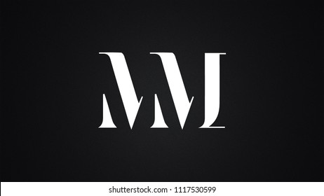 MM Letter Logo Design Template Vector