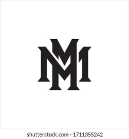 MM letter logo design vector.