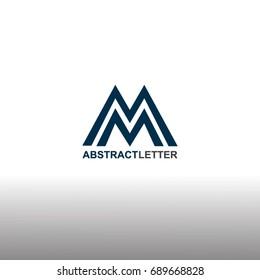 MM letter Logo Template