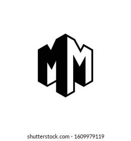 MM letter logo, MM logo vector