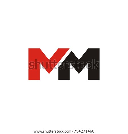 MM Logo Initial Letter Design Template Vector