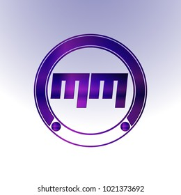 MM Logo,Metal Logo,purple Logo,Monogram