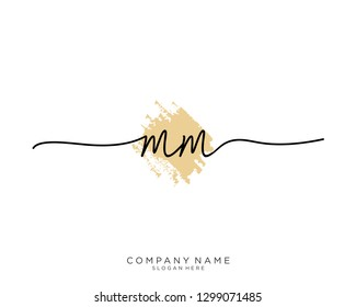 MM M M Initial handwriting logo template