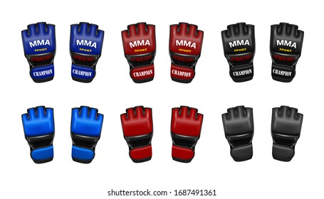 MMA gloves in vector.Gloves for mixed martial arts in vector.