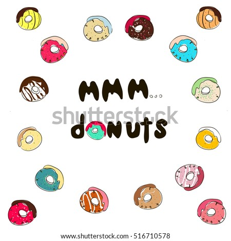 Mmm Donuts Inscription Stock Quotes Donuts Stock Vector Royalty Stunning Mmm Stock Quote
