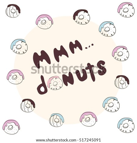 Mmm Donuts Inscription Stock Quotes Donuts Stock Vector Royalty Gorgeous Mmm Stock Quote