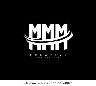 MMM Letter Creative Modern Monogram Elegant Three Swoosh Logo