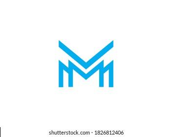 MMM logo design. Triple M logo concept
