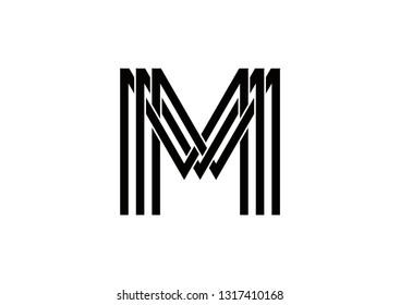 MMM logo design vector