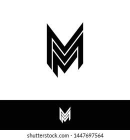 MMM simple logo icon design vector