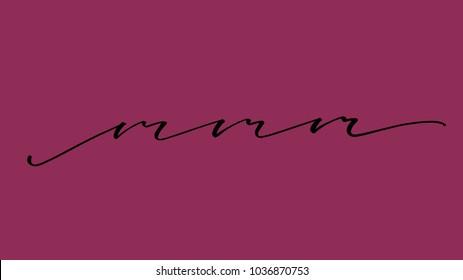 Mmm vector calligraphy