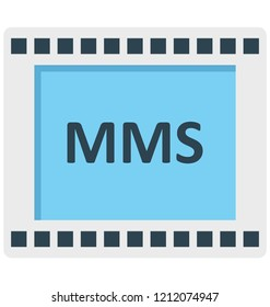 Mms, message, multimedia message, Isolated Vector icons that can be easily modified or edit