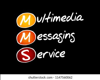 MMS - Multimedia Messaging Service, acronym technology concept