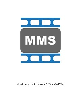 Mms  vector icon in eps 10. Editable modern design internet button on white background.