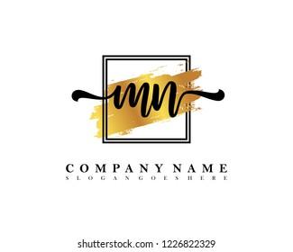 MN Initial handwriting logo concept