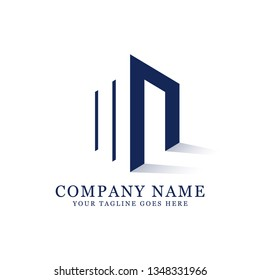 MN initial logo design,  clean and strong design