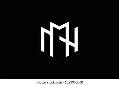 MN letter logo design on luxury background. NM monogram initials letter logo concept. MN icon design. NM elegant and Professional white color letter icon design on black background.